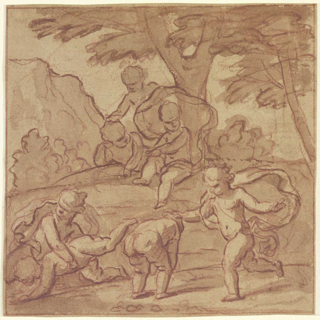 Children Playing Leapfrog, Nicolas Poussin   ?