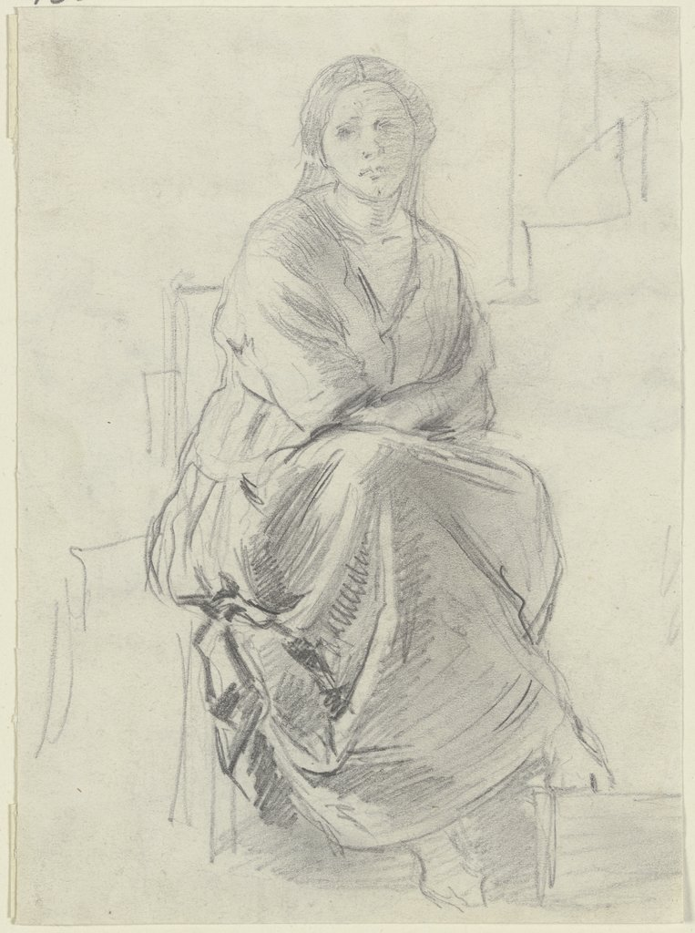 Sitting woman, Anton Burger