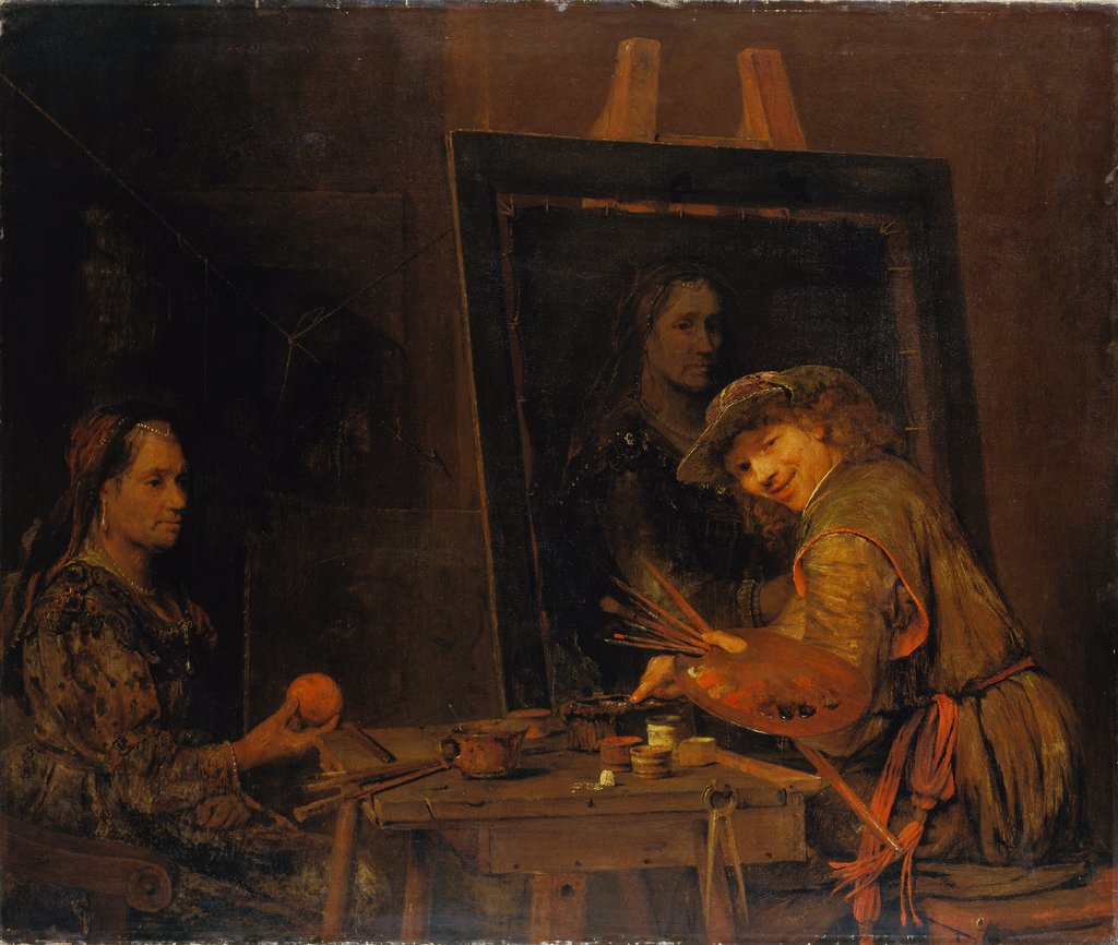 Self-Portrait as Zeuxis Portraying an Ugly Old Woman, Arent de Gelder