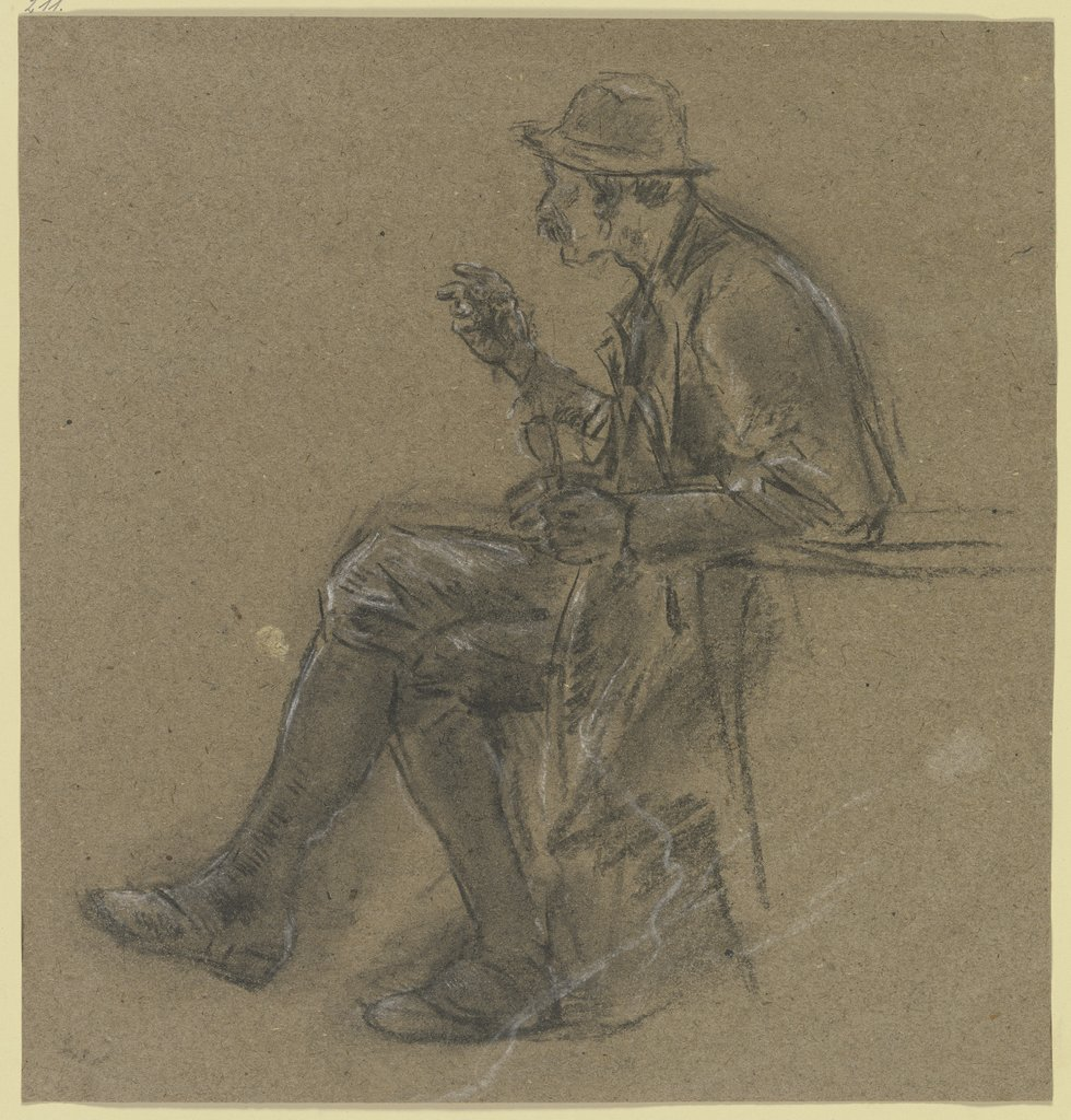 Hunter in knee breeches, Anton Burger