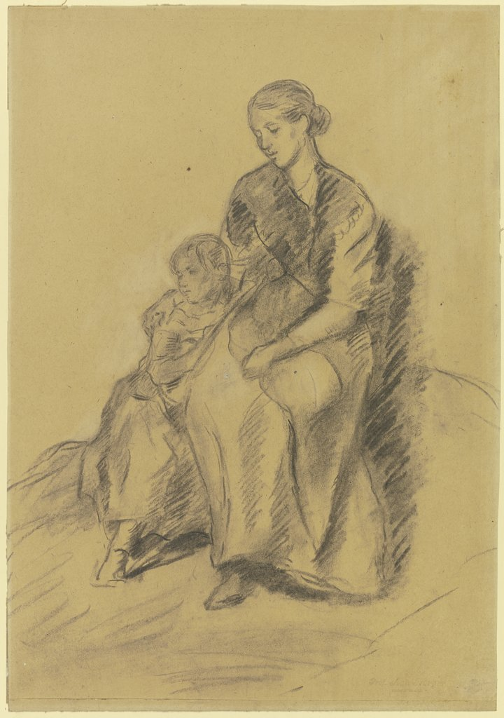 Mother with child, Anton Burger
