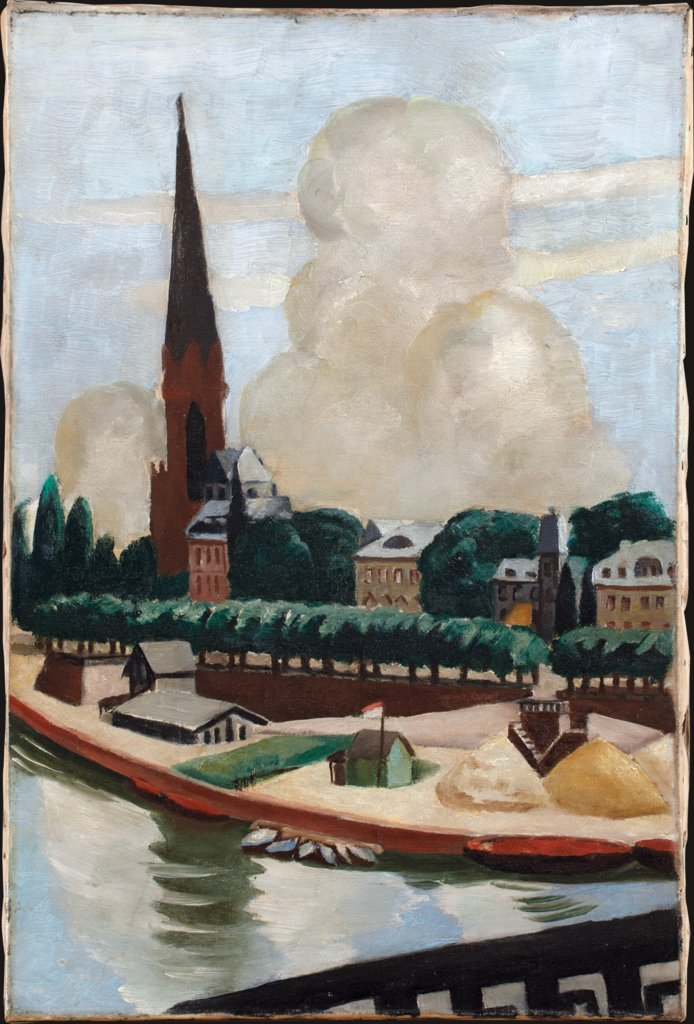 Bank of the Main and Church, Max Beckmann