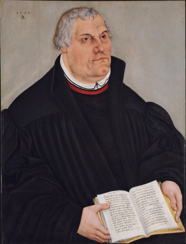 Portrait of Martin Luther, Lucas Cranach the Younger