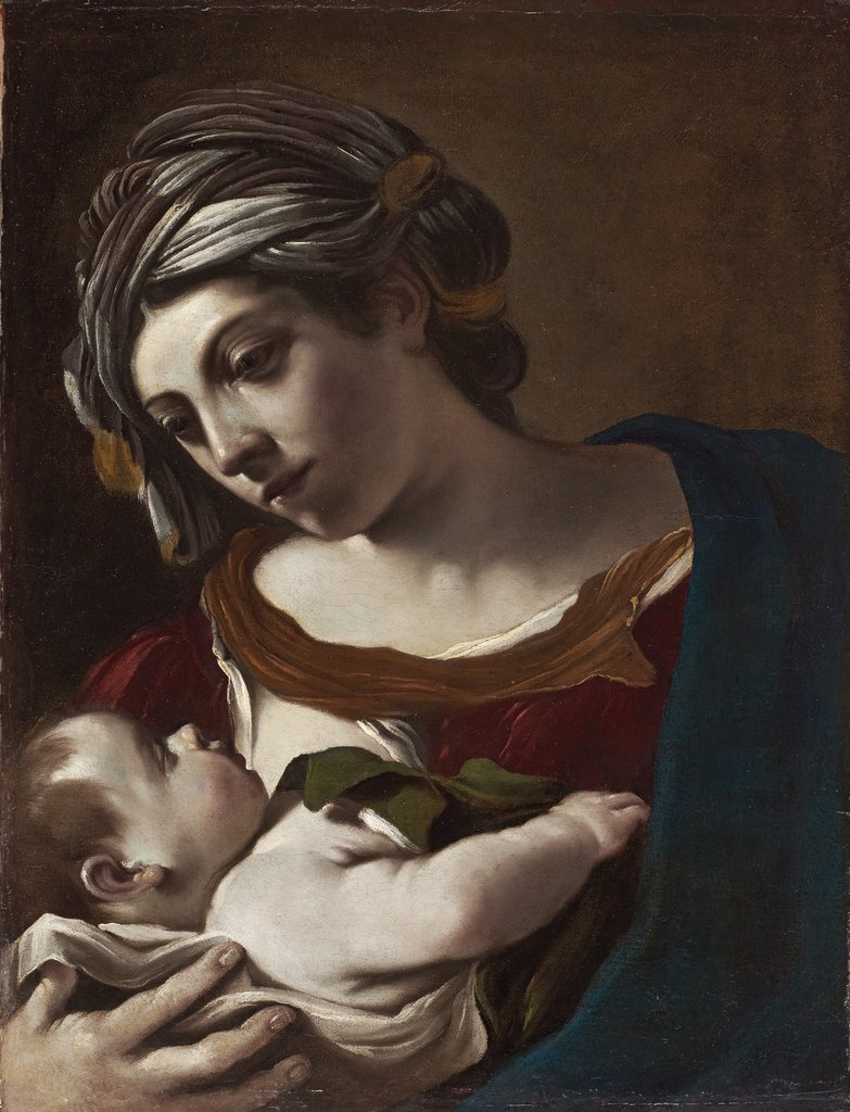 Madonna mit Kind, Guercino (Giovanni Francesco Barbieri)