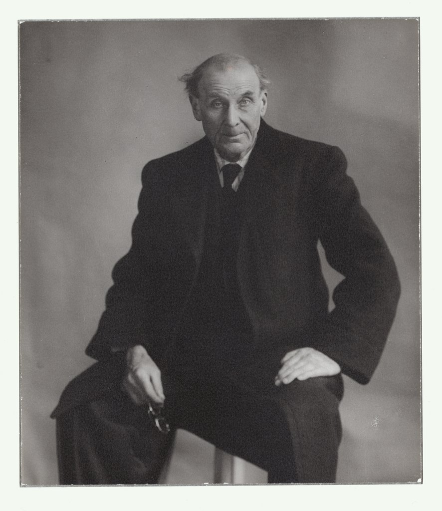 Portrait of Eugène Atget, opposite, Berenice Abbott