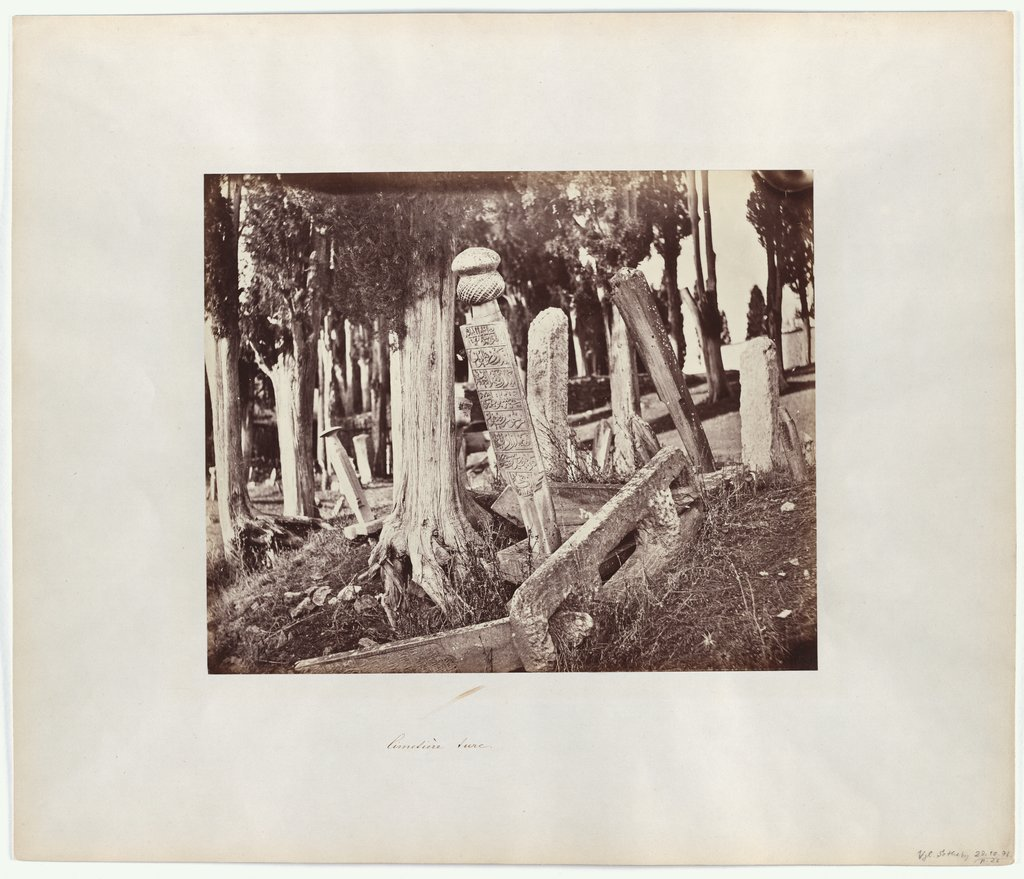Constantinople: Turkish Cemetery in Scutari, Abdullah Frères