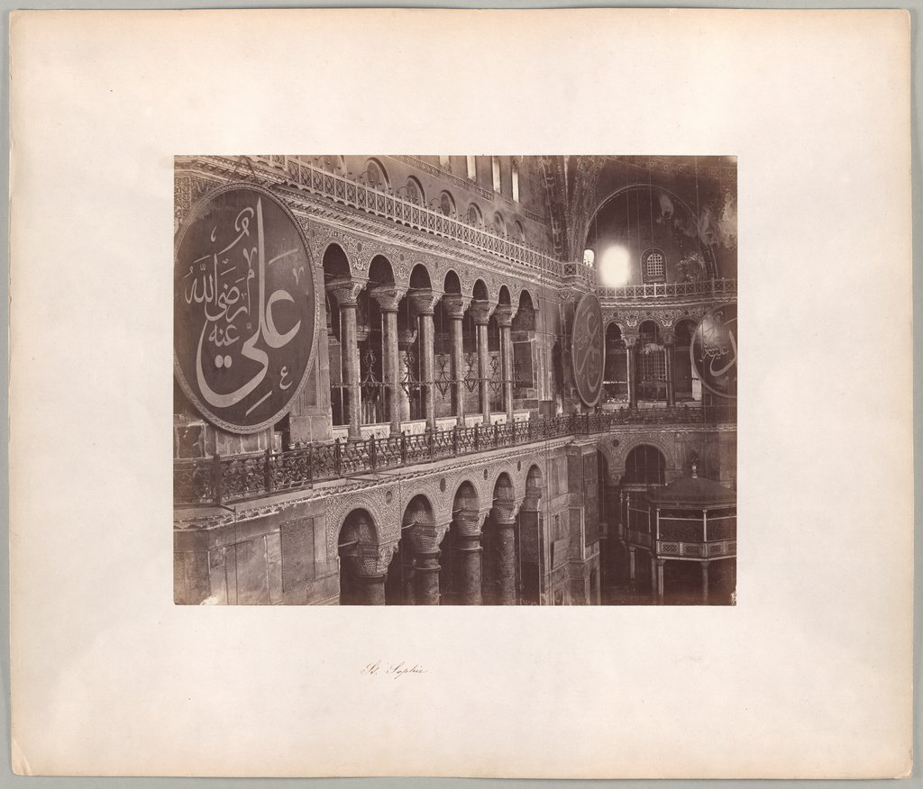 Constantinople: Interior of the Hagia Sophia, Abdullah Frères