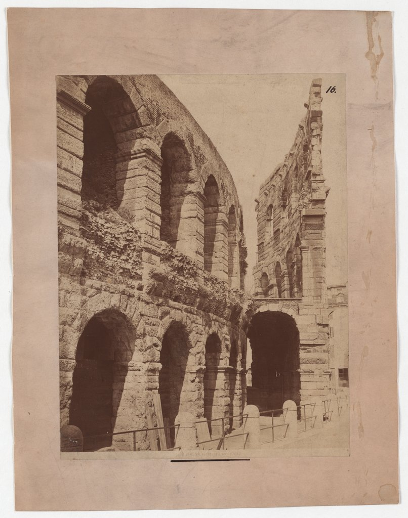 Verona: View of the amphitheatre, Unknown, 19th century