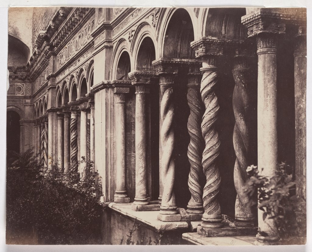Rome: Columns in the cloister of San Giovanni in Laterano, Unknown, 19th century