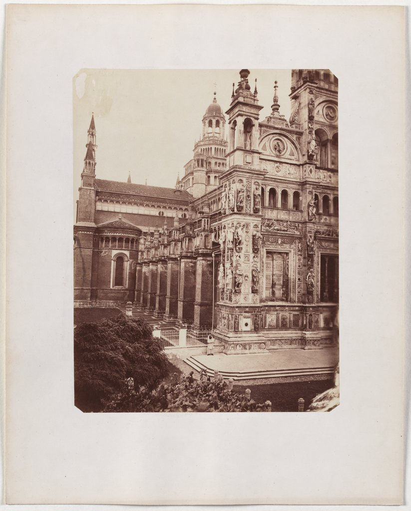 The Charterhouse of Pavia: view of the church from the left, Unknown, 19th century