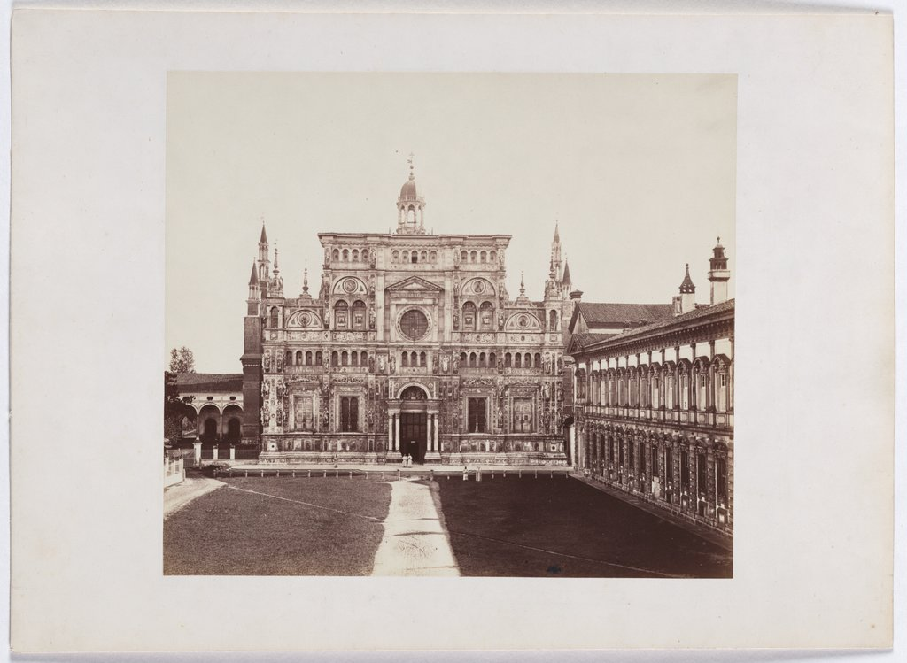 The Charterhouse of Pavia: view of the main facade, Unknown, 19th century