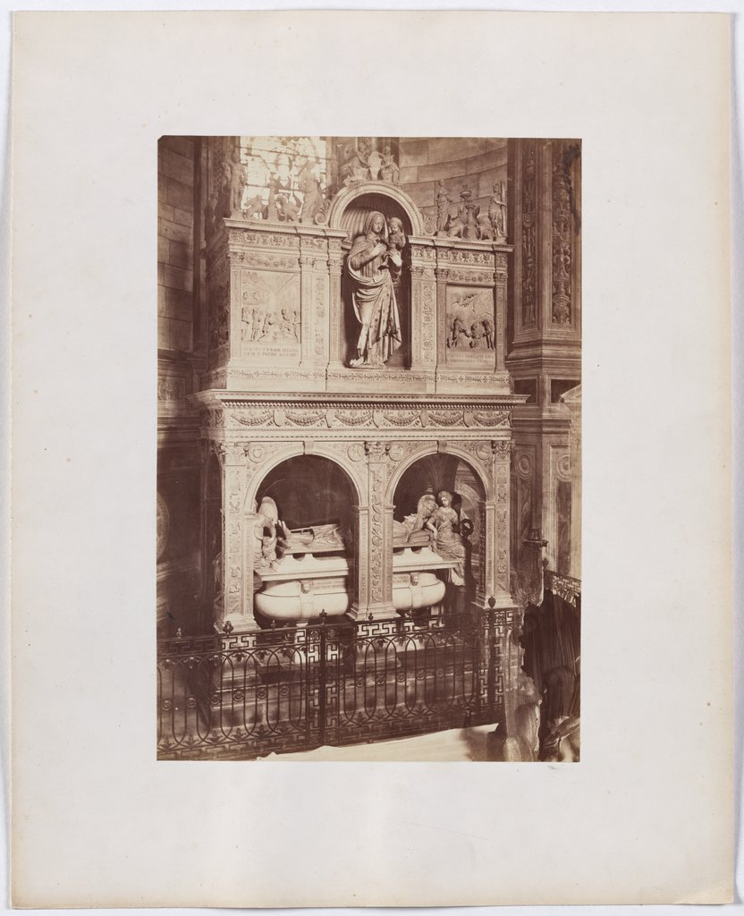 In the Charterhouse of Pavia: view of a tomb in the church, Unknown, 19th century