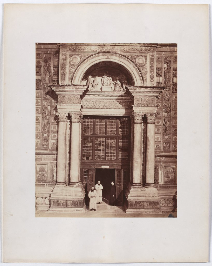 The Charterhouse of Pavia: view of the main portal of the church, Unknown, 19th century