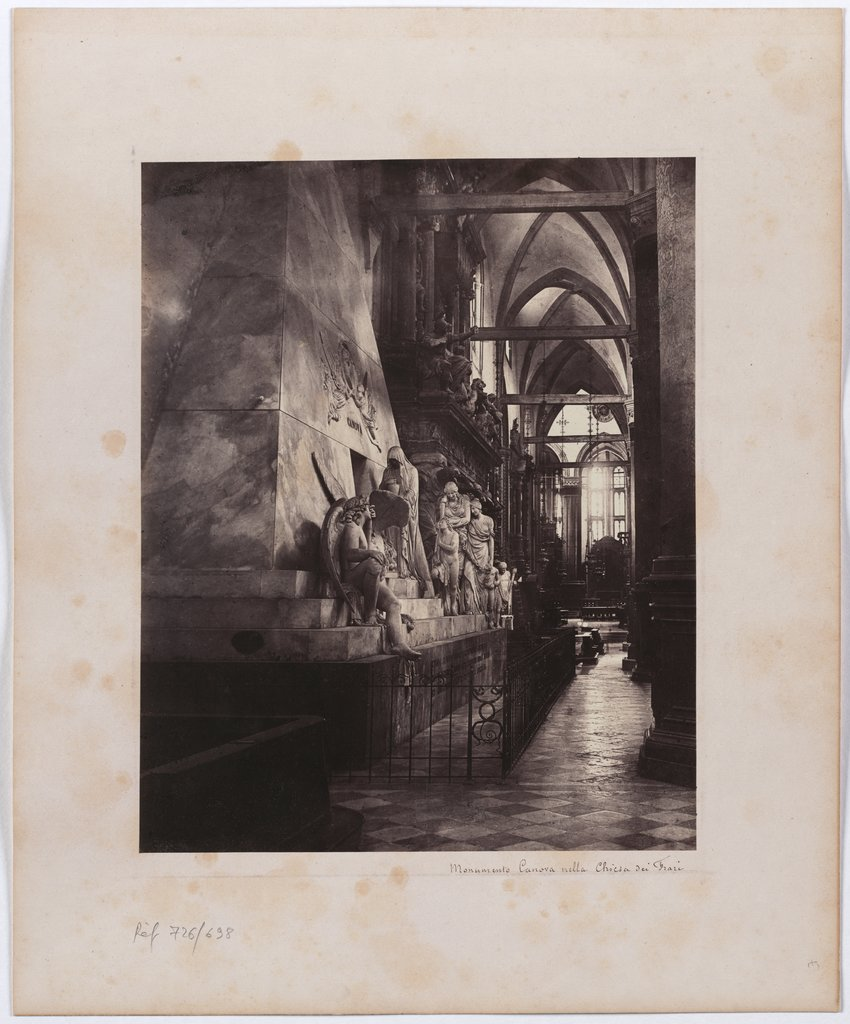 Venice: The Canova Monument in the Frari Church, Unknown, 19th century