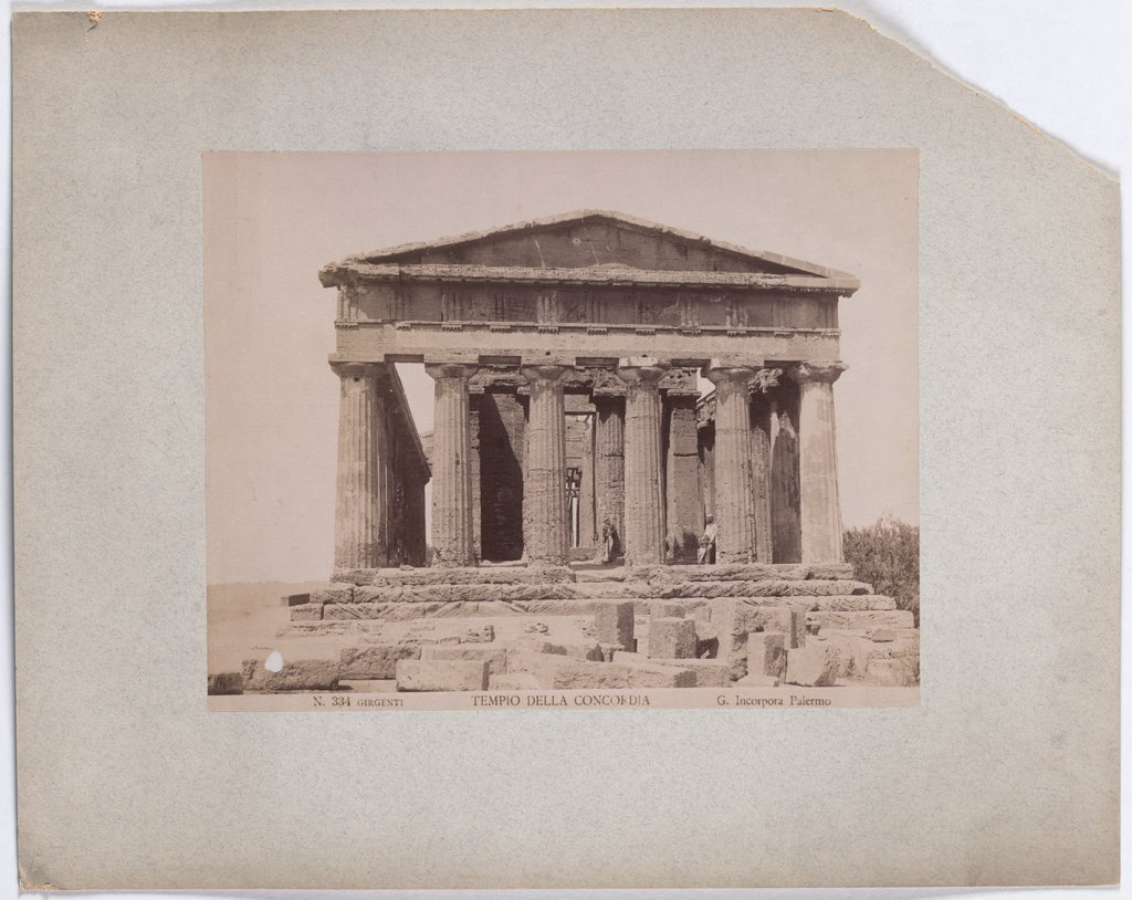 Agrigento: The temple of Concordia, Giuseppe Incorpora