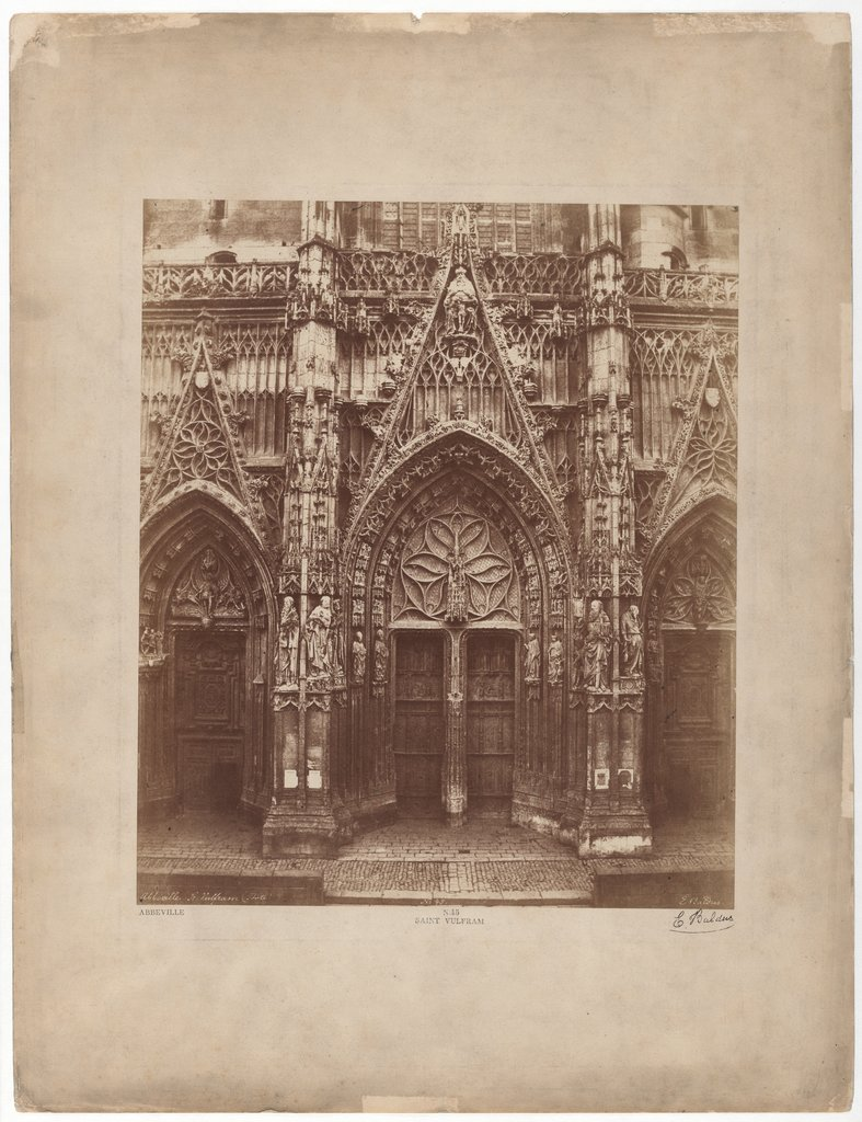 Abbeville, Saint Wulfram parish church, facade, Édouard Baldus