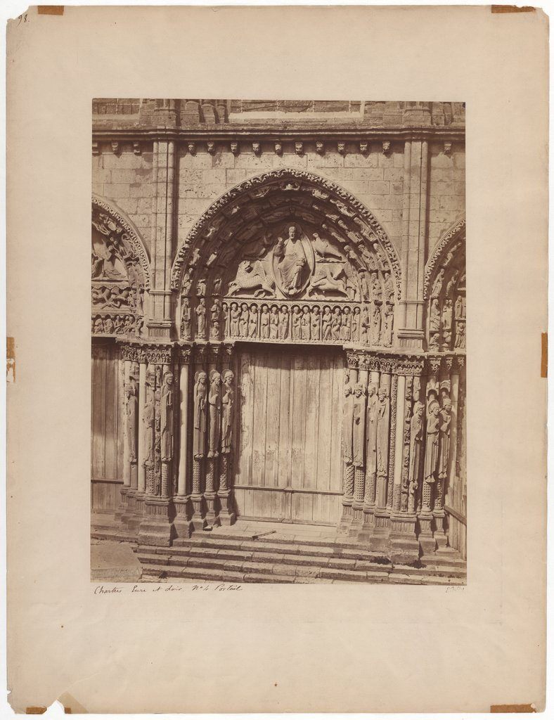 Chartres: Royal portal of the cathedral, Édouard Baldus