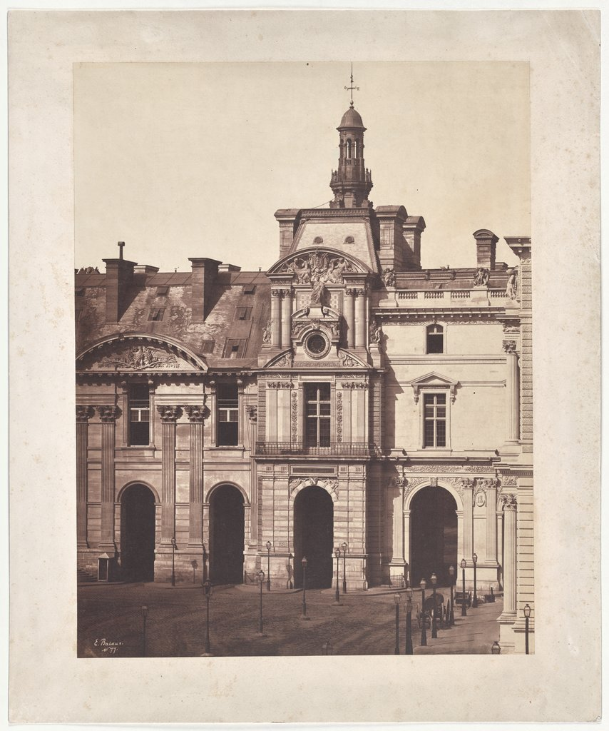 Paris: The Pavillon de Rohan of the Louvre, Édouard Baldus