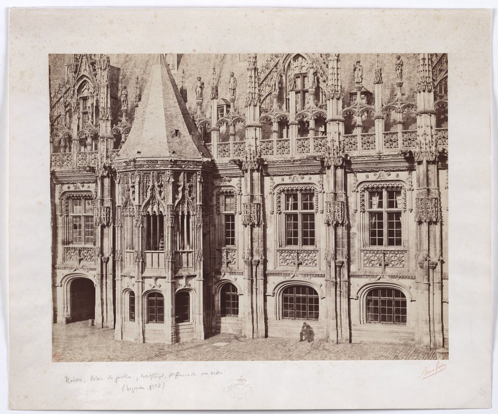Rouen, Palais de Justice: Court facade of the west wing, Bisson Frères