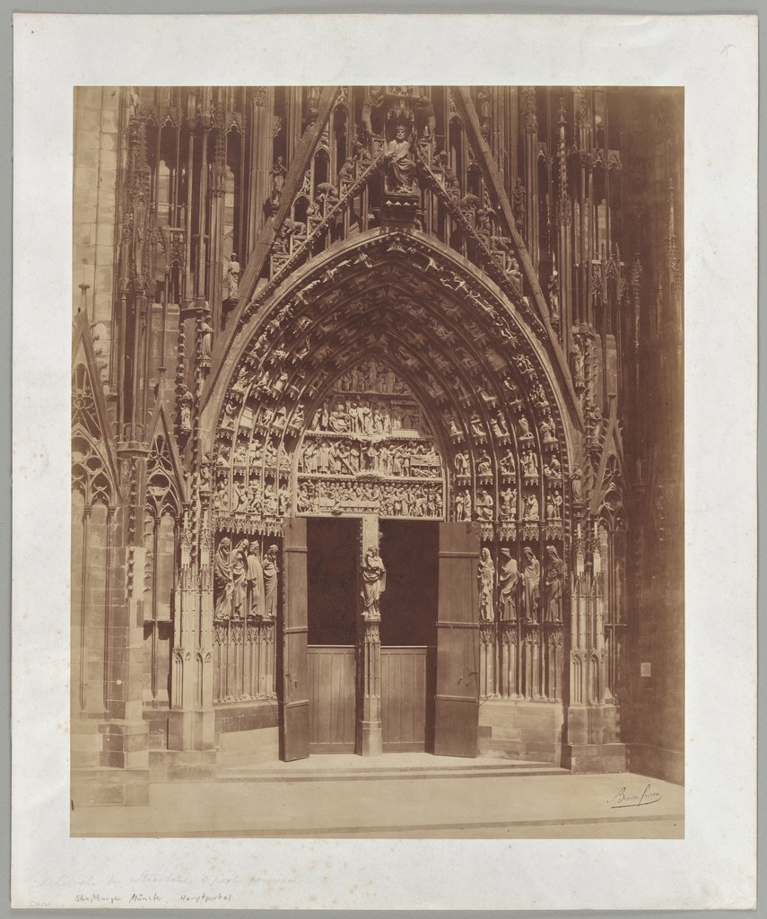 Strasbourg: The main portal of the cathedral, Bisson Frères