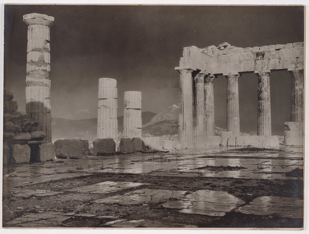 Athens, The Acropolis after the rain, Frédéric Boissonnas