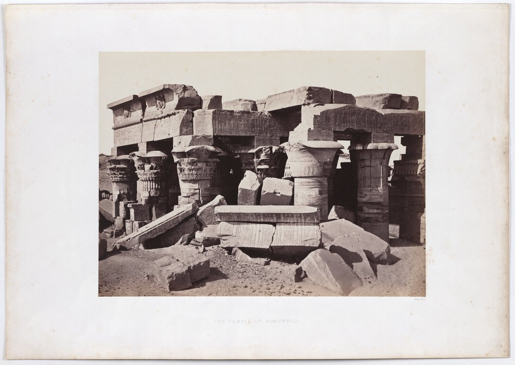 Temple of Kom Ombo in Upper Egypt, Francis Frith