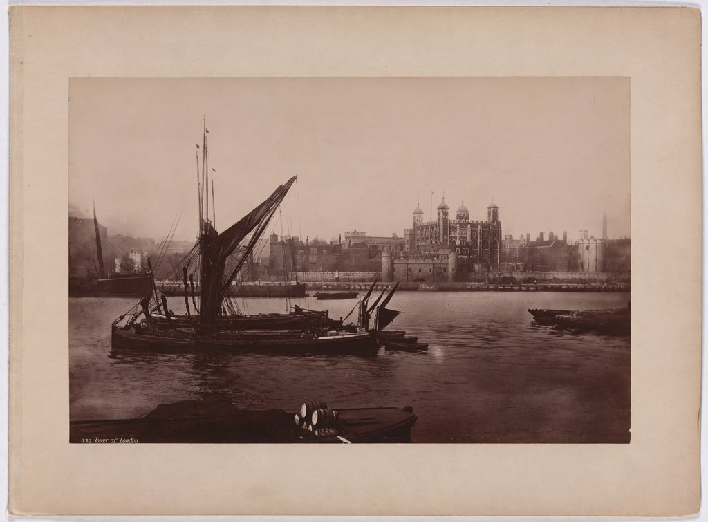 London: View across the Thames to the Tower, Francis Frith