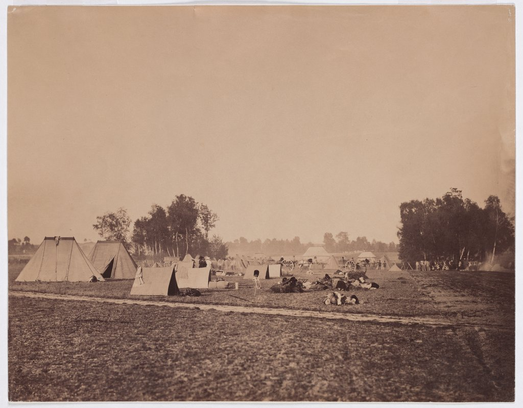 "Maneuvers in Châlons-sur-Marne: ""The camp"", Gustave Le Gray"
