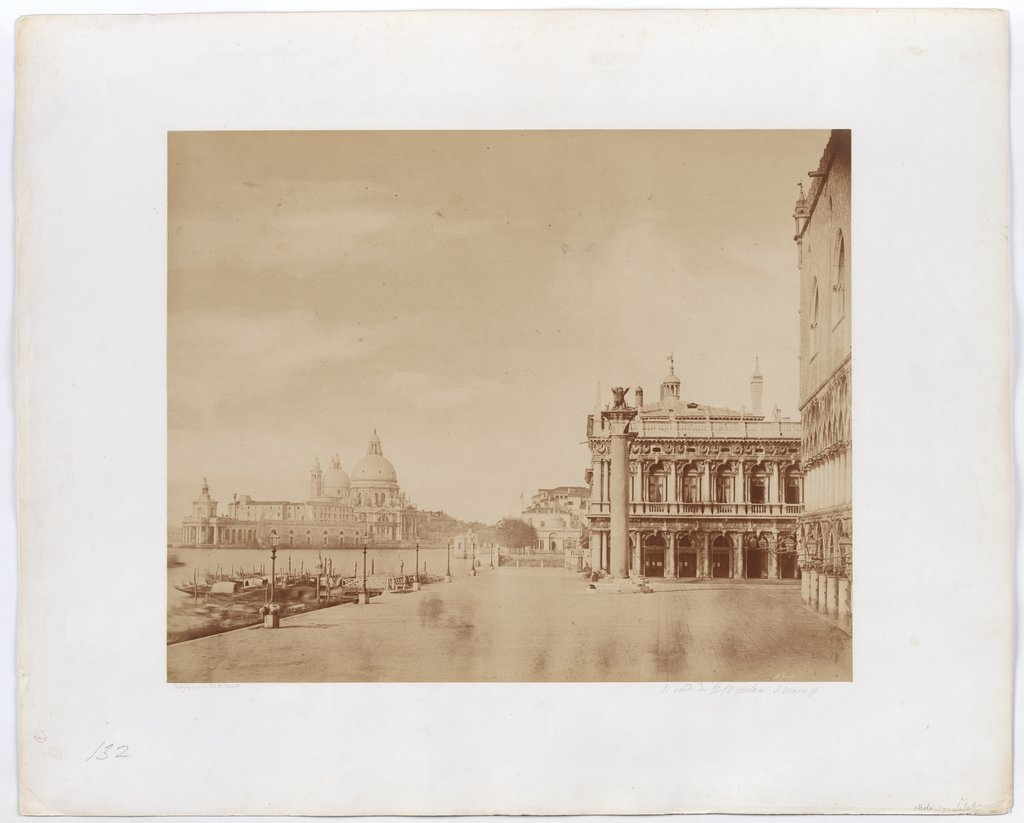 Venice. View from Molo to S. Maria della Salute, Jakob August Lorent