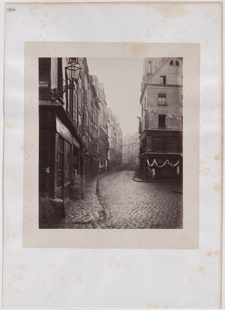 Paris: Blick in die Rue Saint-Honoré, Charles Marville