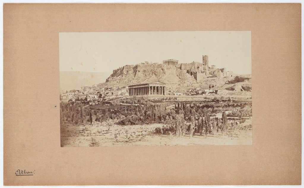 Athens: View of Theseion and Acropolis, Petros Moraites