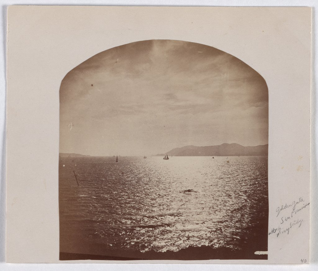San Francisco: Golden Gate Bridge before construction, Eadweard Muybridge  zugeschrieben