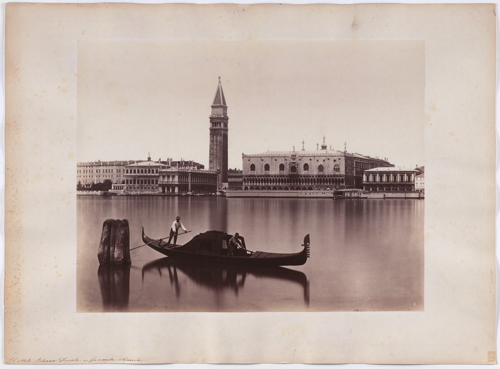 Venice: View of the Marciana Library, the Campanile and the Ducal Palace, Carlo Naya
