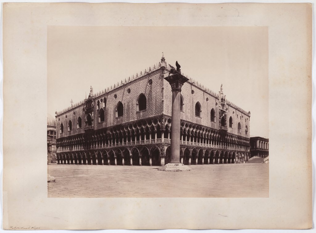 Venice: View of the Markus Column and Doge's Palace, Carlo Naya