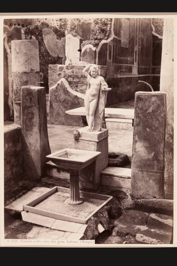 Pompeii: Fountain in the Casa del gran balcone, Giorgio Sommer