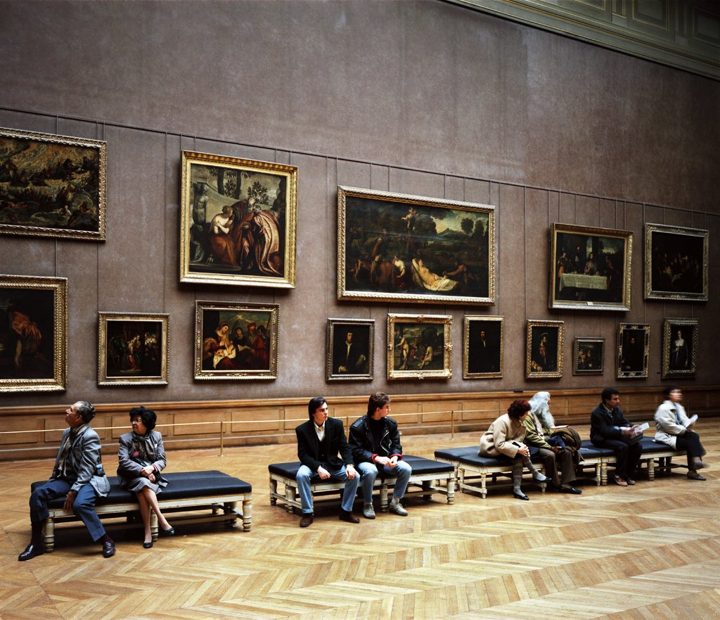 Louvre 3, Paris 1989, Thomas Struth