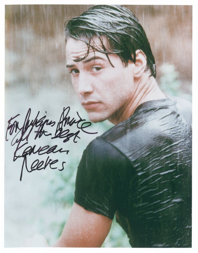 "To Richard Prince, All The Best, Keanu Reeves, from the series ""All The Best"", Richard Prince"