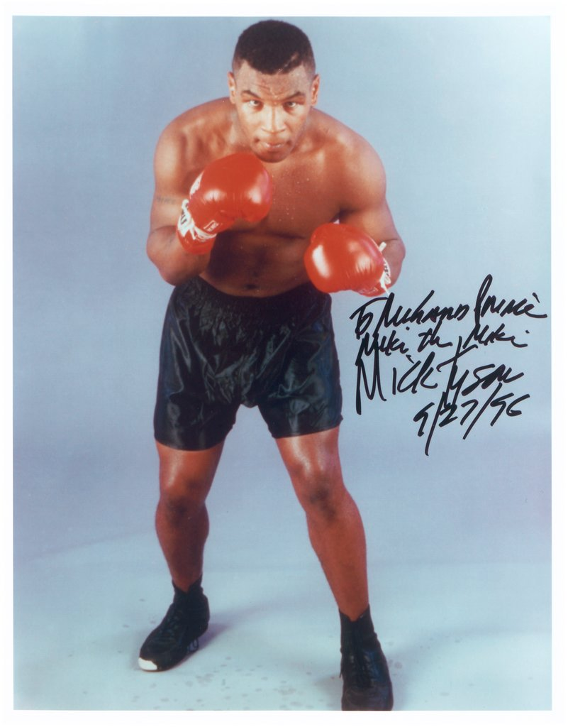 "To Richard Prince, Mike the Mike, Mike Tyson, 9/27/96, from the series ""All The Best"","