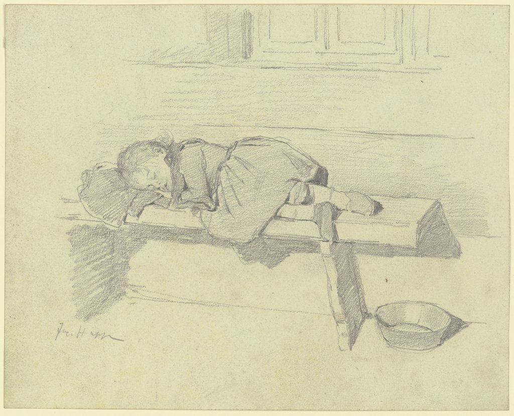 Sleeping child, Jacob Happ