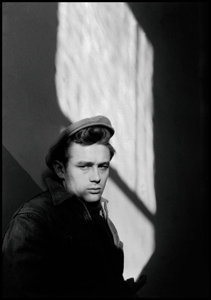 James Dean at the old Schoolhouse of Fairmount, Dennis Stock