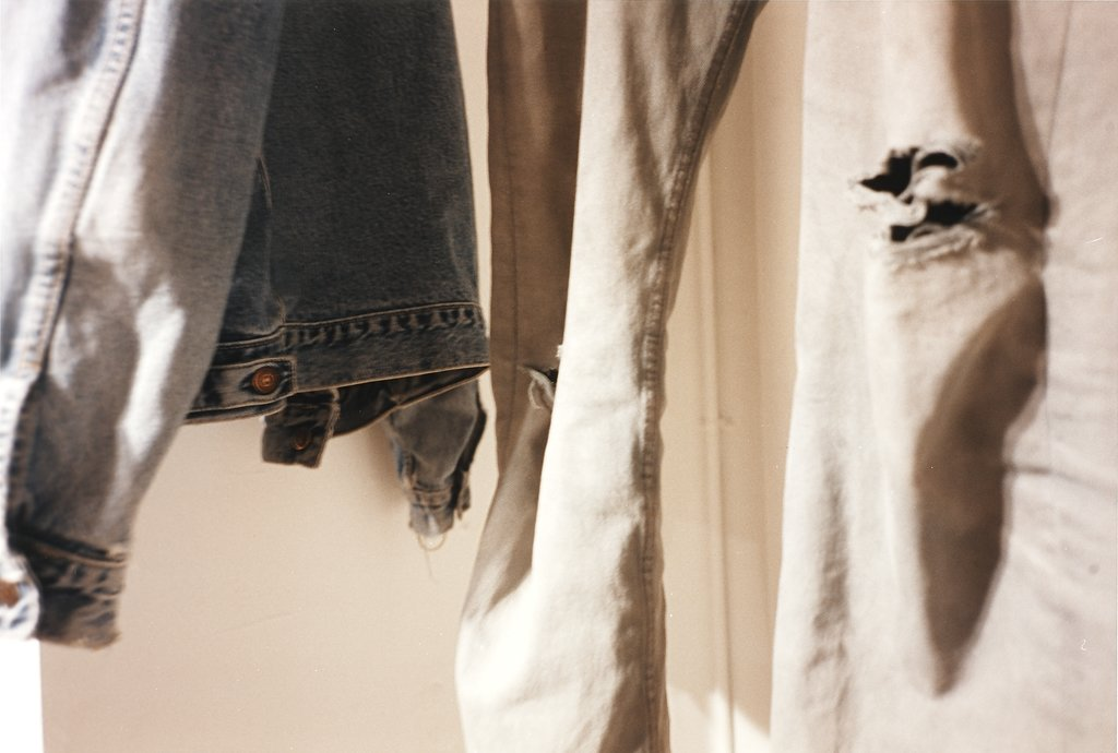 blue jacket, grey jeans, Wolfgang Tillmans