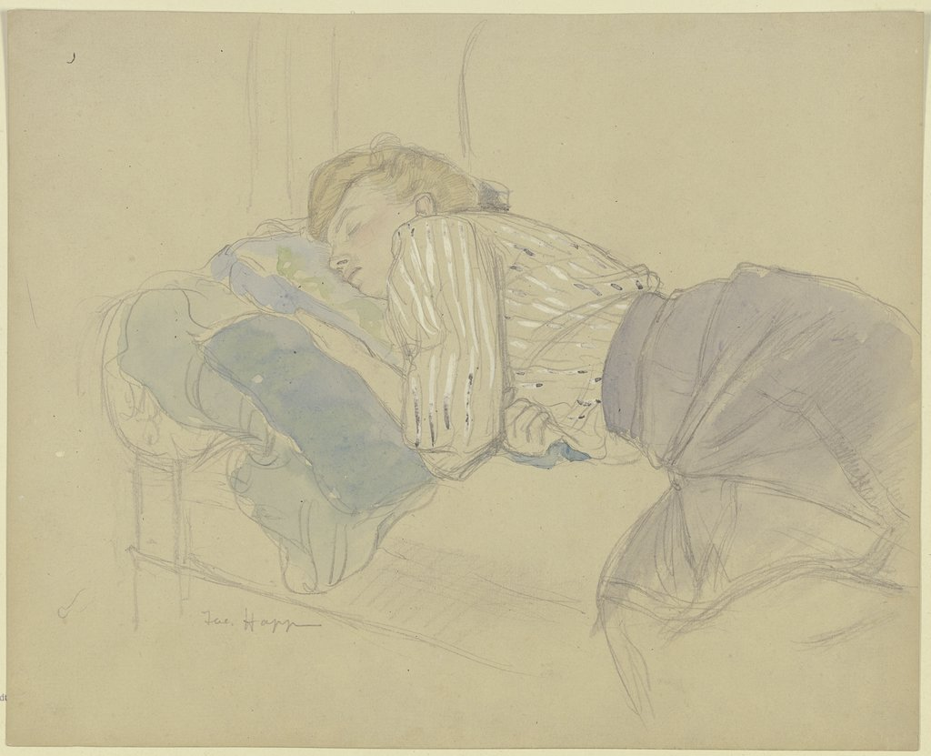 Sleeping young woman, Jacob Happ
