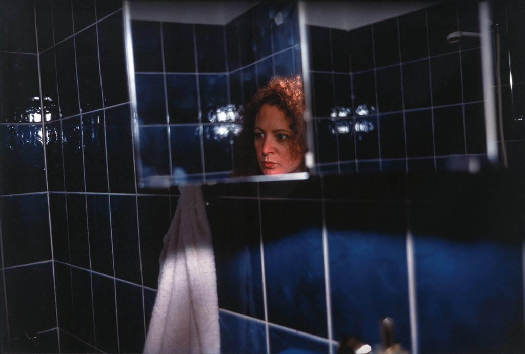 Self-Portrait in My Blue Bathroom, Berlin, Nan Goldin