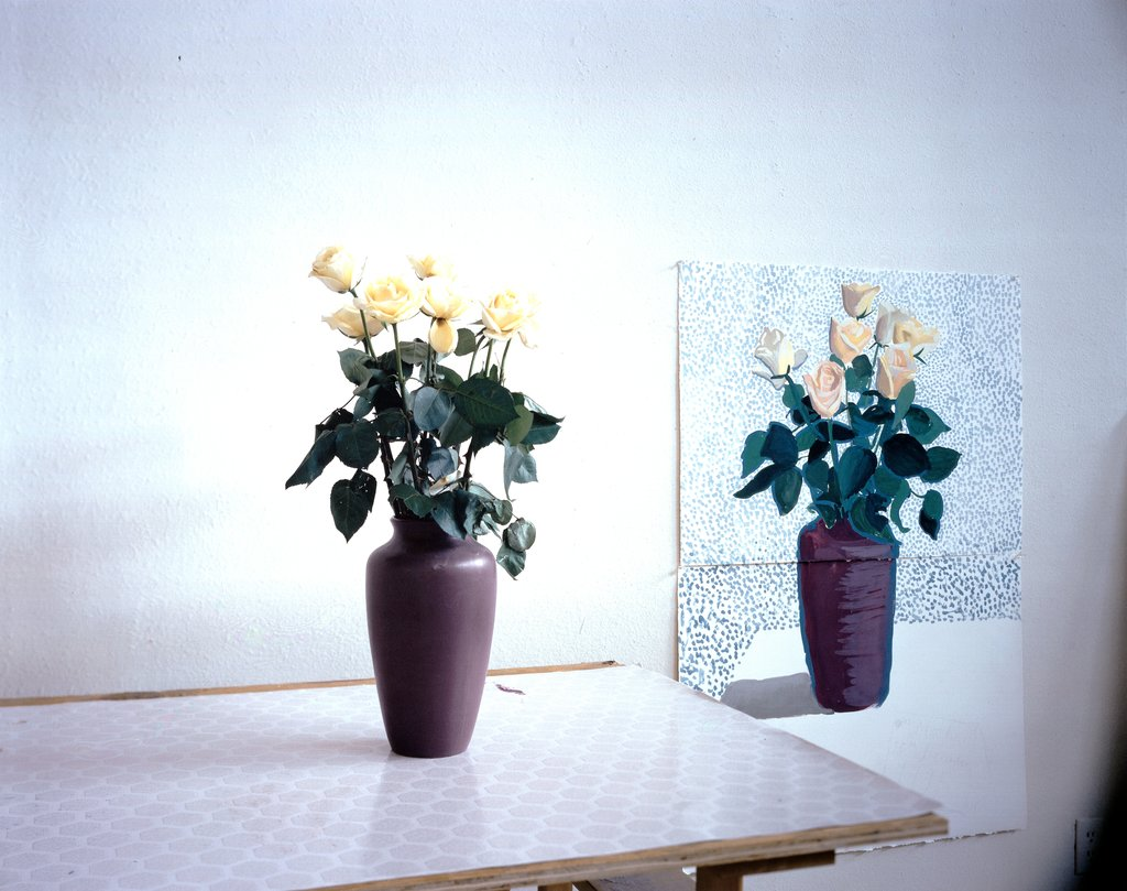 """Roses for Mother"" December 4th 1995, David Hockney"