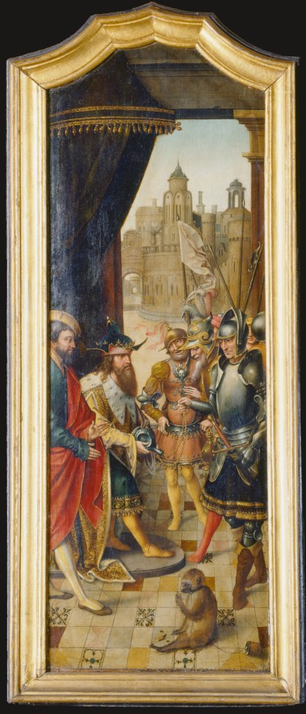King David Receiving the Cistern Water of Bethlehem, Master of the von Groote Adoration