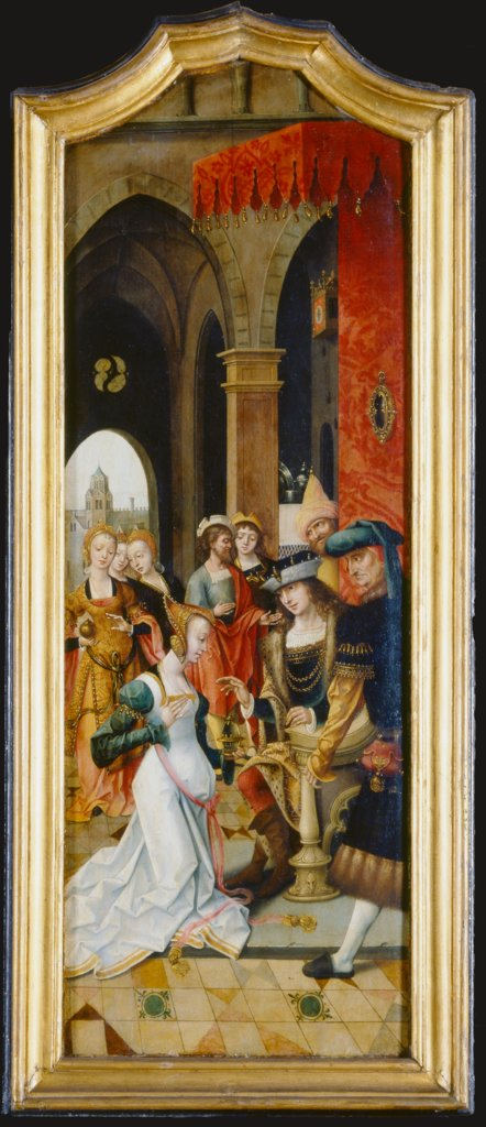 King Solomon Receiving the Queen of Sheba, Master of the von Groote Adoration
