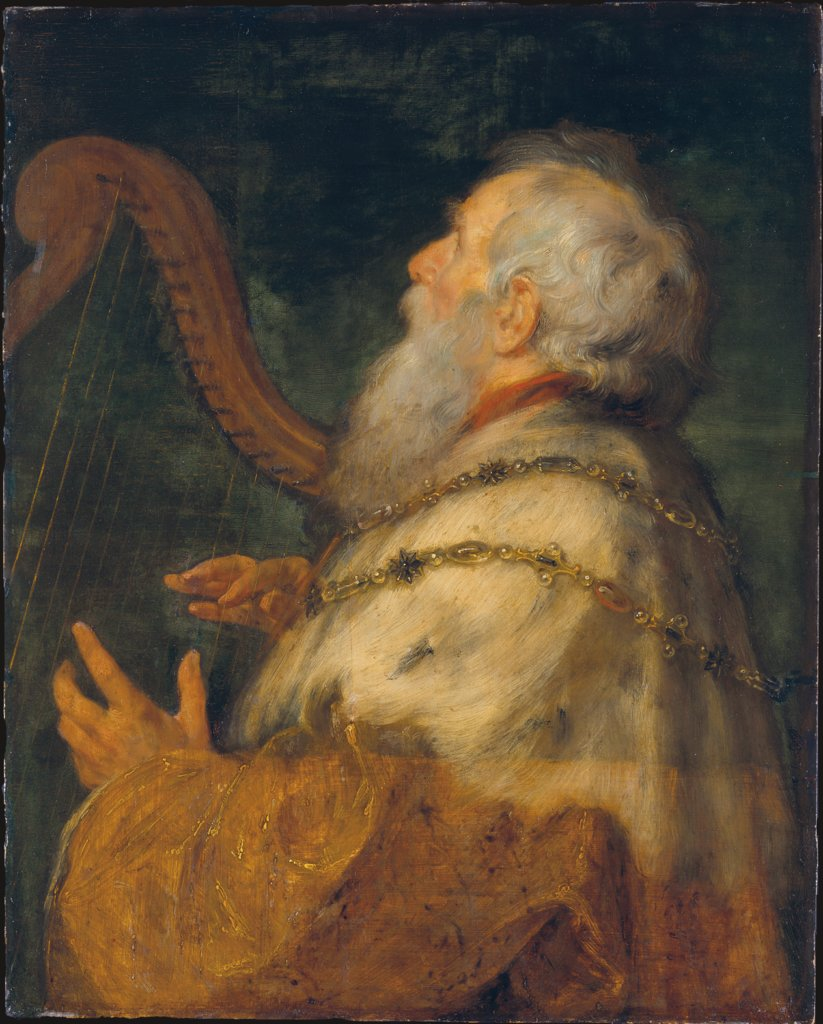 King David Playing the Harp, Peter Paul Rubens, Jan Boeckhorst