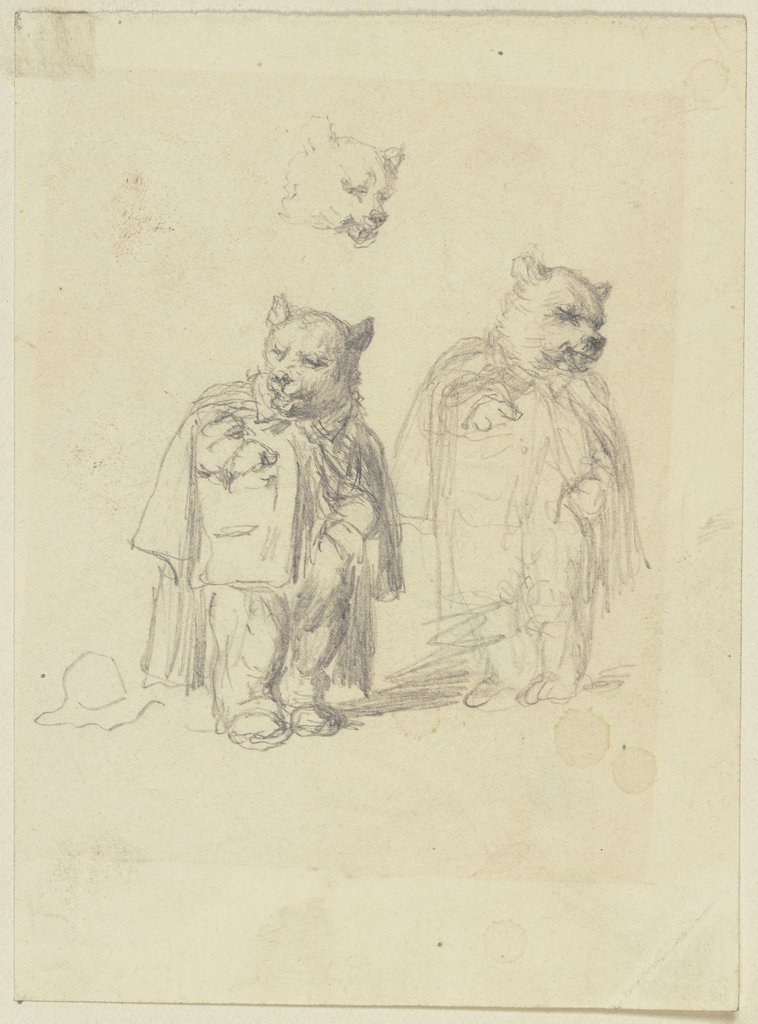 Two bears, Wilhelm Amandus Beer