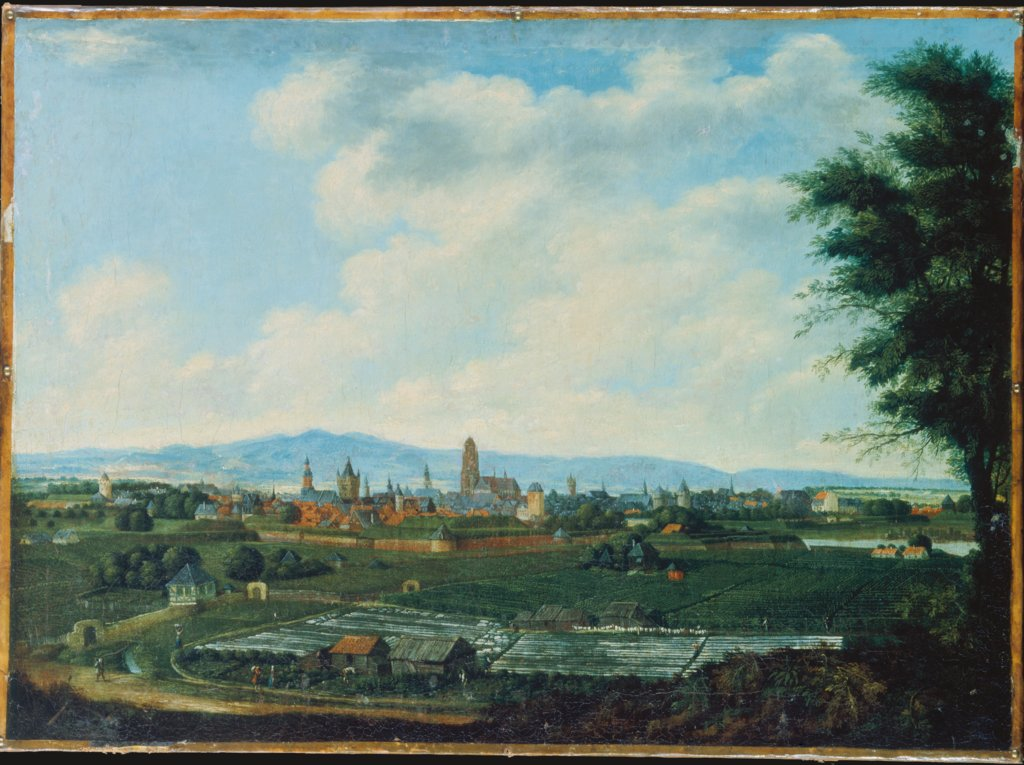 View of Frankfurt Overlooking Sachsenhausen, German Master of the 18th Century