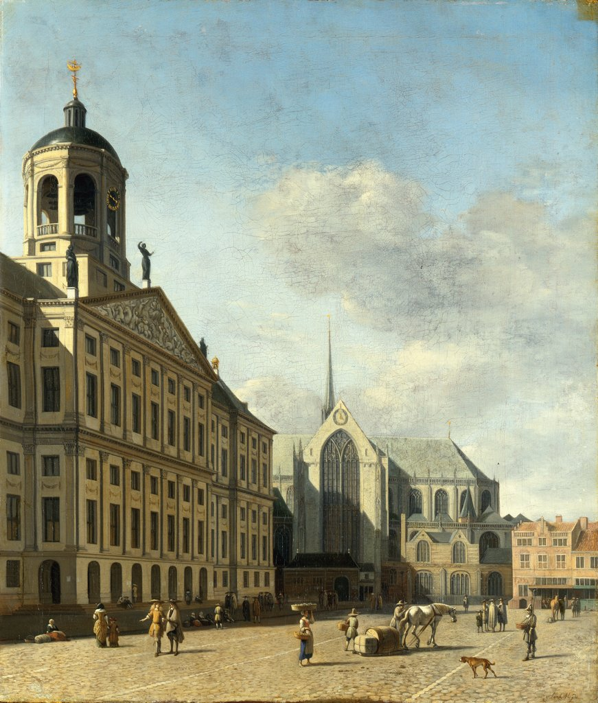 The Town Hall in Amsterdam, Gerrit Adriaensz. Berckheyde